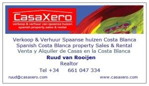 Visitekaartje CasaXero dec 2014